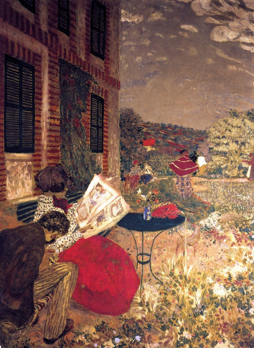 Woman Reading on a Bench, 1898